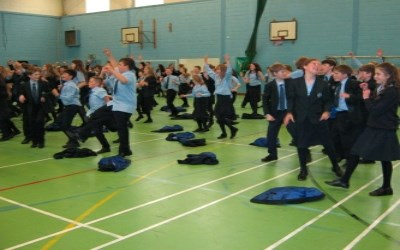Year 7 enjoy a Zumba workout