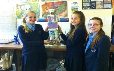 Year 7 make robots in Art Club