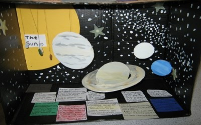 Year 7 create models of the Solar System in Science