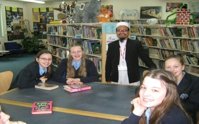 Mr Abdus Samad, from Bangladesh, visits Chailey as part of the Connecting Classrooms Programme