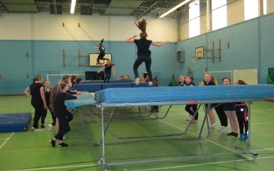 Trampolining at Chailey