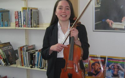 Hattie wins a place at the Yehudi Menuhin Music School