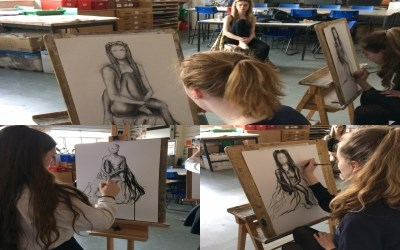 Life drawing for Year 11